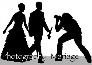 Vector drawing of photographers at a wedding